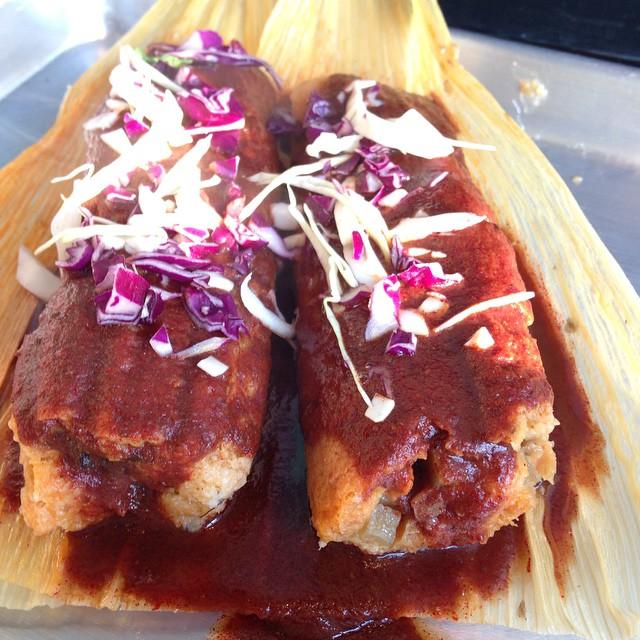 Amazing vegan tamales courtesy of Dusty Pilger